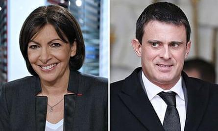 Anne Hidalgo and Manuel Valls