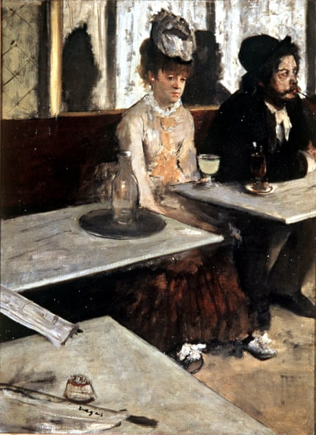 Degas In a Cafe