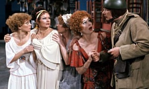 Judi Dench, second from left, with Richard Griffiths, far right, in The Comedy of Errors