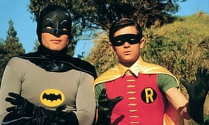 Adam West (left) and Burt Ward as Batman and Robin in the 1966 film