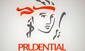 File photo of the Prudential logo in Hong Kong