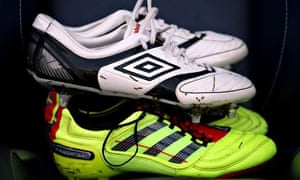 Some football boots, yesterday