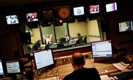 The Today programme studio at the BBC