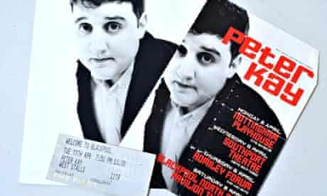 Tickets and programmes from Peter Kay's early gigs