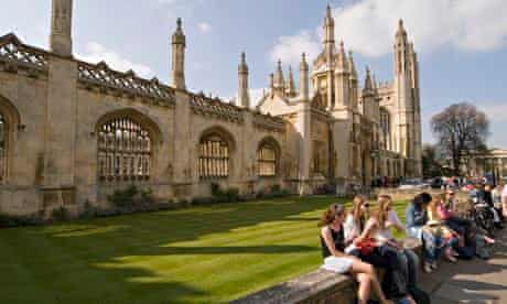 Students at King's College, University of Cambridge