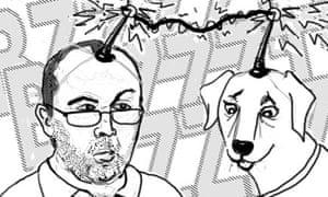Dean Burnett body swap with dog drawing