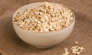 Yum ... oats for breakfast.