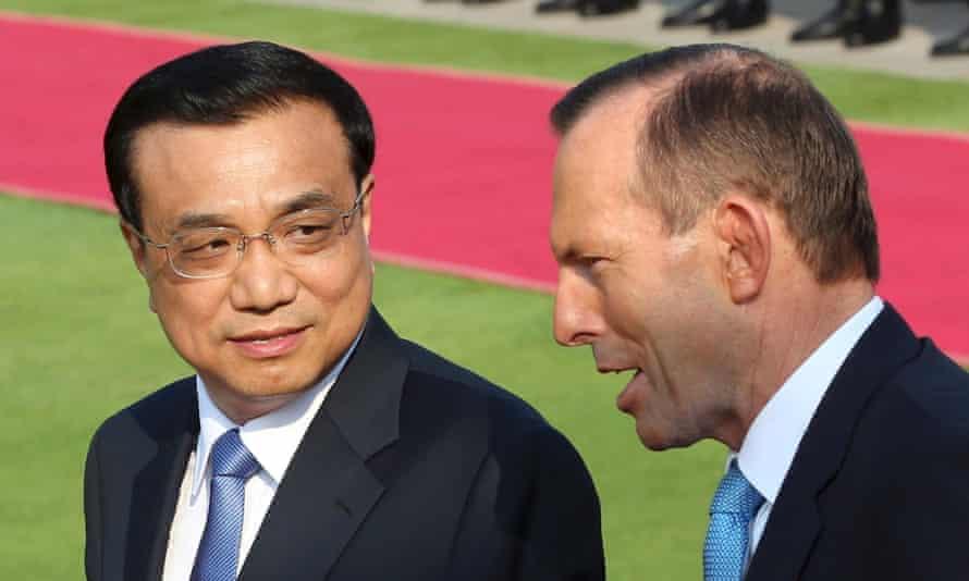 Tony Abbott and Premier Li Keqiang