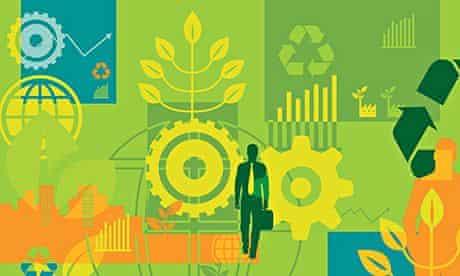 Green business illustration