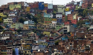 The Comuna 13 shantytown, one of the poorest areas of Medellín in Colombia.