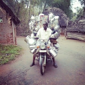 'An interior village in Tiruvaraur district of Tamil Nadu, where you get mobile vendors selling utensils at door step.'