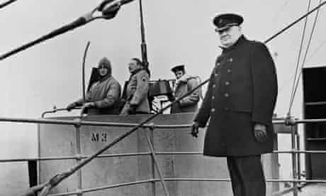 Winston Churchill on board a ship