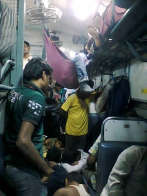 'I was going back to Chennai after visiting some friends in Bangalore over the weekend, a few months back. I hadn't booked tickets. This is the unreserved section of the train.'