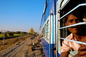 View from a train traversing Rajasthan.