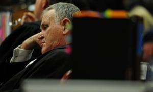 Advocate Barry Roux listens to Oscar Pistorius' testimony