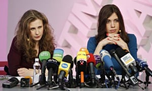 Freed Pussy Riot members give press conference on Rain TV