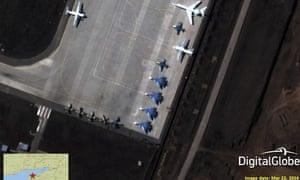 Russian SU33 fighter planes