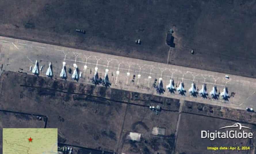 Russian fighter jets at Buturlinovka airbase