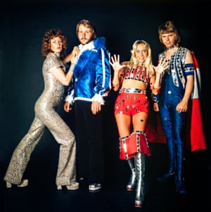 Abba dressed for stage