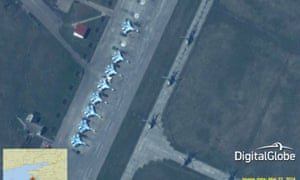 Russian fighters at Primorko-Akhtarsk airbase