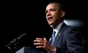 President Obama speaks at the LBJ Presidential Library.