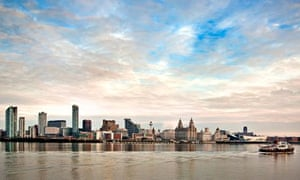 Ferry crossing the river Mersey