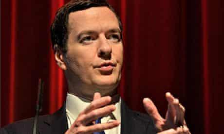 George Osborne giving a speech