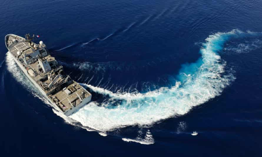 The British navy ship, HMS Echo, which is arriving in the Indian Ocean zone where Malaysia Airlines flight MH370 is thought to have gone down.