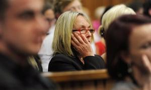 June Steenkamp, mother of the late Reeva Steenkamp, in court yesterday
