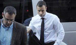 Oscar Pistoriusarrives for his trial