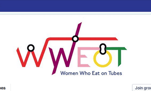 The Women Who Eat on Tubes Facebook group logo.