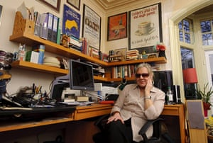 Sue Townsend: Sue Townsend at home in Leicester, 2011
