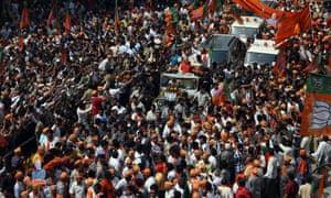 Bharatiya Janata Party's (BJP) Prime Ministerial candidate, Narendra Modi,