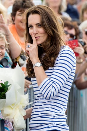 Catherine, Duchess of Cambridge has been meeting members of the public at Auckland Harbour in New Zealand