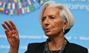 IMF managing director Christine Lagarde at the fund's  spring meeting.