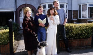 Adrian Mole and family, in the 1980s TV series.