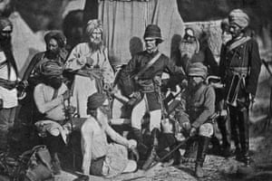 Lieutenant CH Mecham and Lt Surgeon Anderson of the British Hodson's Horse cavalry regiment, in India during the Indian Rebellion of 1857.