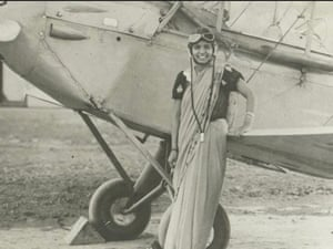 Sarla Thakral,first Indian woman to fly. In 1936 she earned an pilot license and flew a Gypsy Moth.