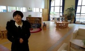 Xu Wenjiao in Tianjin eco-city's primary school.