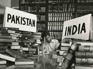 The Calcutta National Library partition of books during partition of India and Pakistan, 1947.