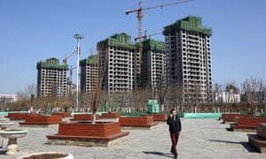 Residential buildings under construction in Tianjin's eco-city.