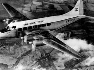 Aircraft owned by The Hindu Newspaper to deliver copies of the paper to various destinations in Karnataka in 1963