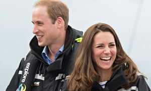The Duke and Duchess of Cambridge visit Auckland harbour.