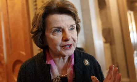 Senate intelligence committee chair Dianne Feinstein.