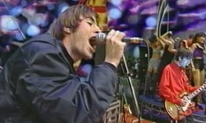 Oasis's first TV appearance performing Supersonic on The Word, 18 March 1994.