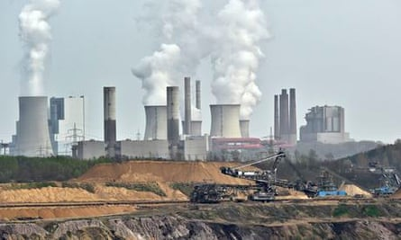 Coal mine and power station in Germany