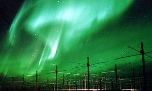 HAARP array and aurora borealis