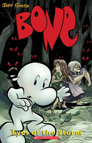 Most chellenged books: The series Bone, by Jeff Smith was cited for its political viewpoint, r