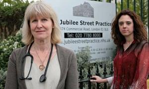 GP Naomi Beer and practice manager Virginia Patania, Jubilee Street practice