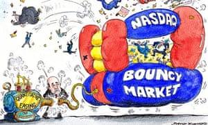 David Simonds cartoon on fears for tech market